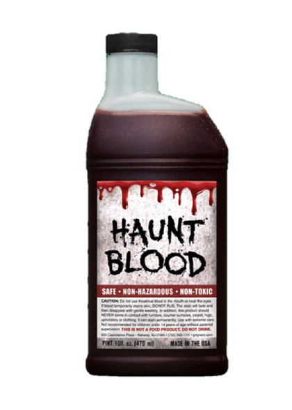 1 Pint Red Fake Haunt Blood Halloween Theatrical Stage Costume Accessory Make-Up