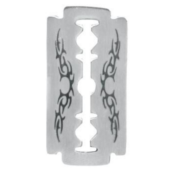Doranne Design Tribal Razor Blade Pendant Necklace Stainless Steel Jewelry