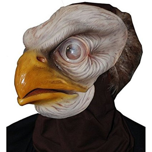 American Pride Bald Eagle Head & Neck Mask Bird Adult Latex Costume Halloween