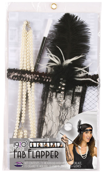 1920's Fab Flapper Gatsby Charleston Instant Era Kit Women's Costume Accessory