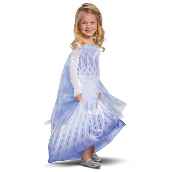 Disney Frozen II Snow Queen Elsa Princess Gown Child Costume Halloween XS-MD