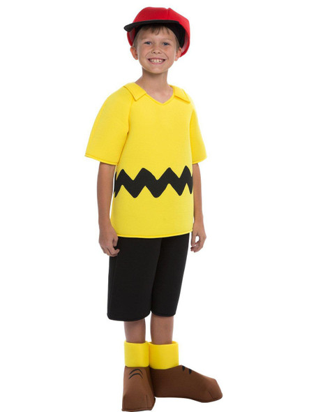 Deluxe Peanuts Charlie Brown Boys Child Kids Halloween Costume SM-MD Licensed