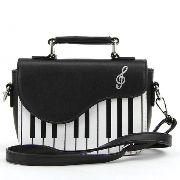 Piano Keyboard Music Notes Musician Satchel Shoulder Crossbody Bag Purse Vinyl