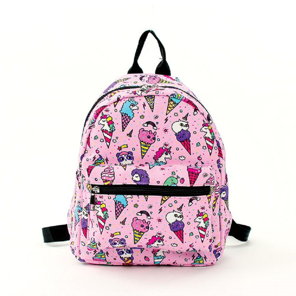 Fairy Ice Cream Magical Unicorns & Kitty Cats Pink Mini Backpack Canvas