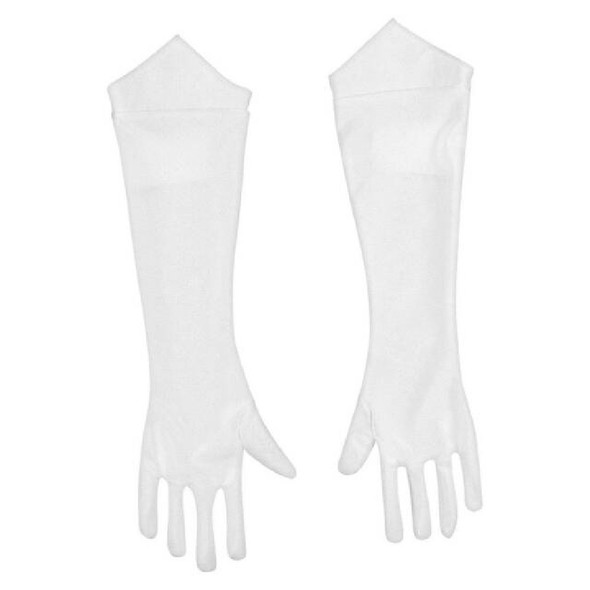 Super Mario Bros. Princess Peach White Gloves Women's Adult Costume Accessory