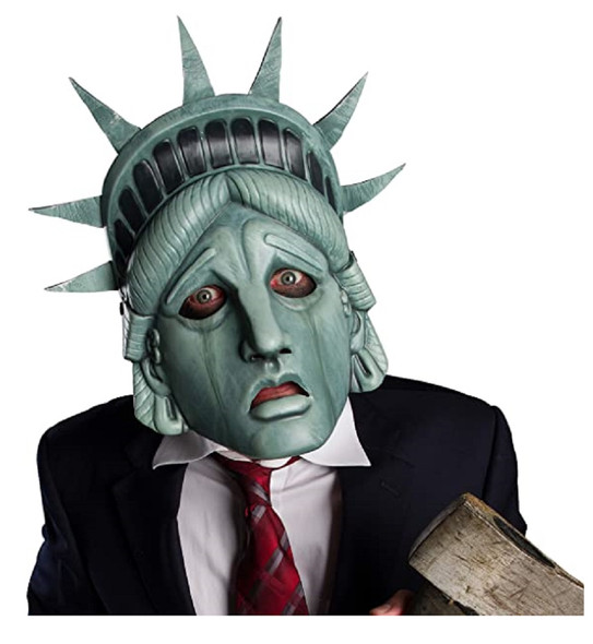 New World Disorder Lost Liberty Vacuform Half Mask NY Statue Costume Accessory