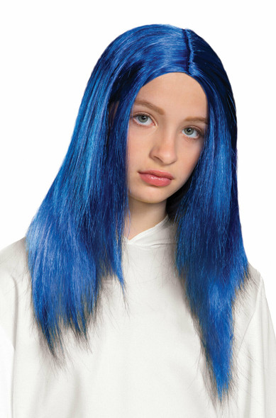 Billie Eilish Blue Child Wig Girls Licensed Halloween Costume Accessory