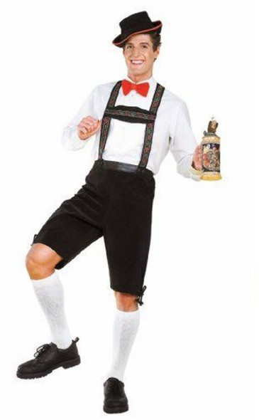 German Hansel Lederhosen Oktoberfest Yodeler Adult Men's XL Plus Size Costume