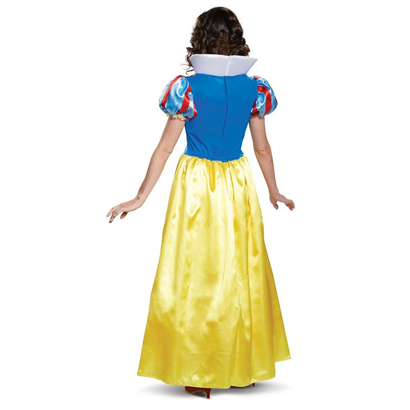 Deluxe Disney Snow White Classic Costume Fancy Dress Womens Princess SM-XL