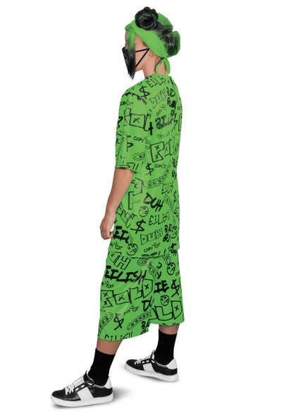 Billie Eilish Duh Halloween Costume Womens Adult Singer Green Outfit SM-LG