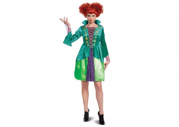 Disney Hocus Pocus Wini Salem Witch Costume Bossy Dress Junior Teens Womens 7-9
