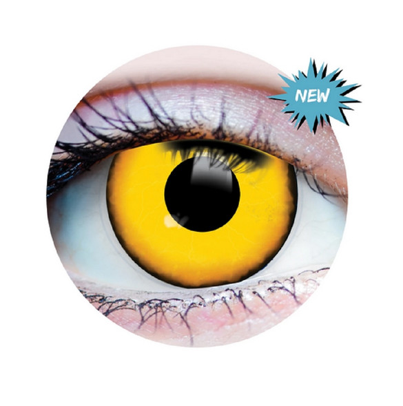 Primal Costume Contact Lenses Costume Yellow Villain Cosplay Make-up