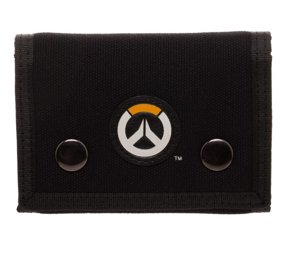 Blizzard Overwatch TriFold Wallet Logo Video Game Black Canvas Fabric Licensed