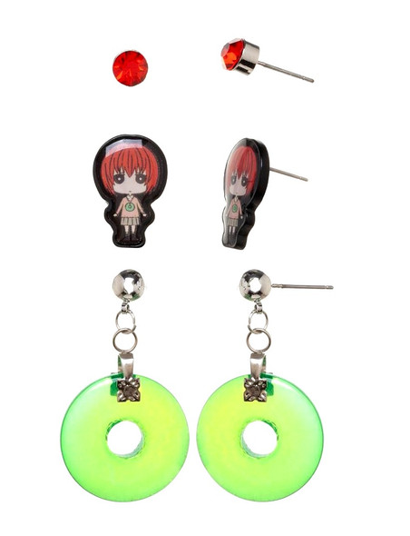Crunchyroll Bananya Earrings Set Costume Jewelry Ancient Magus Bride Anime 3/PK