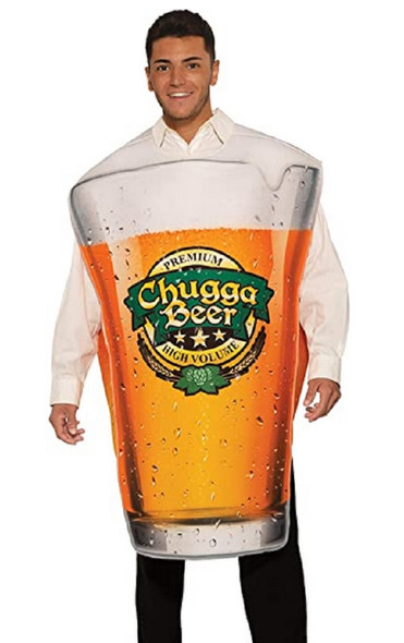 Glass Of Beer Pint Chugga Funny Adult Halloween Costume Oktoberfest One Size