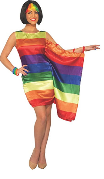 Pride Rainbow Fantasy Equality Dress Adult Women's Costume One Size