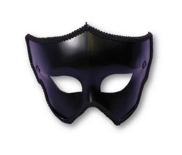 Fancy Classic Black Eyeglass Mask Venetian Halloween Adult Costume Accessory