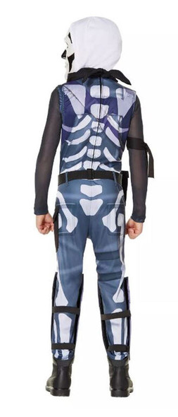 Fortnite Skull Trooper Youth Child Costume Boys Skeleton Jumpsuit Outfit XL
