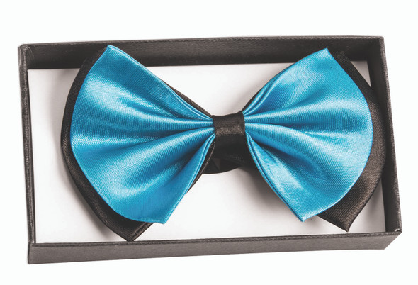 Bow Tie In A Box Teal & Black Adult Formal Event Prom Groom Costume Accessory
