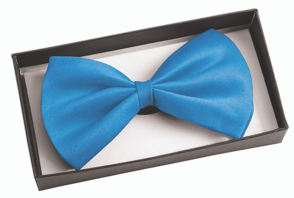 Bow Tie In A Box Satin Teal Adult Formal Event Prom Groom Costume Accessory