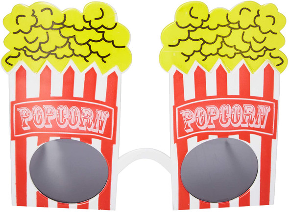 At The Movies Popcorn Glasses Novelty Party Eyewear Costume Accessory