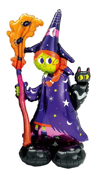 "Airloonz 55"" Scary Witch Foil Mylar Air Balloon Halloween Party Decor Supply"