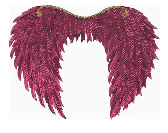 "Metallic Burgundy Fantasy Wings Angel Fairy Adult 20"" Span Costume Accessory"