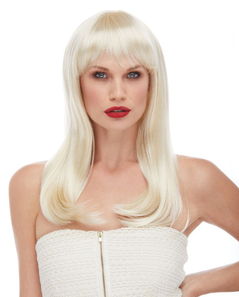 Classy Long Blonde Pageboy Wig w Bangs Quality Adult Costume Accessory