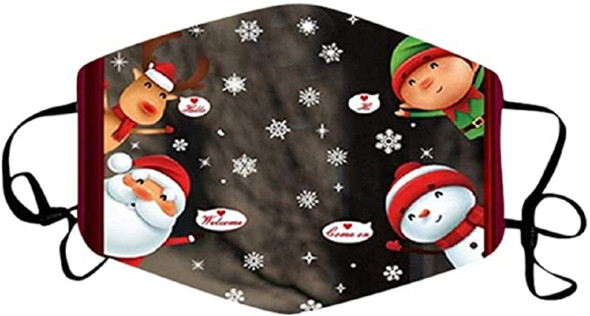Christmas Santa Claus Welcome Holiday Face Covering Non-Medical Mask Washable