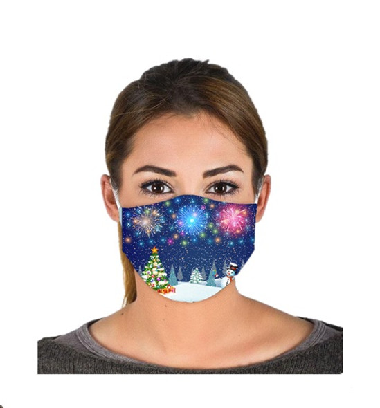 Christmas Snowman Adult Face Covering Non-Medical Mask Washable Reusable
