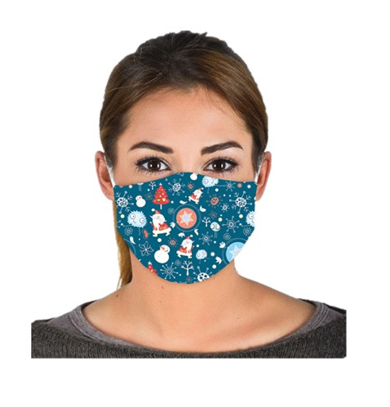 Christmas Holidays Adult Face Covering Non-Medical Mask Washable Reusable #1
