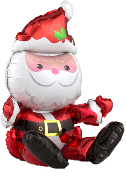 "Sitting Santa Claus Multi-Balloon 21"" Foil Balloon Table Decoration Christmas"