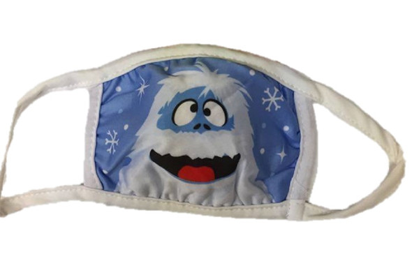 Abominable Snowman Yeti Christmas Child Face Covering Non-Medical Mask Washable