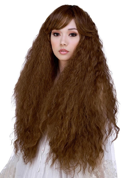 Rockstar Quality Prima Donna Golden Chestnut Brown Long Curly Women Wig Stylable