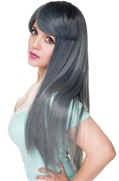 RockStar Wigs® Wigs Gothic Lolita Dark Root Bella Dark Grey Pewter Wig Stylable