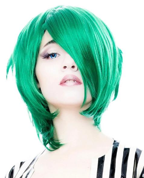 Rockstar Wigs Boy Cut Long Emerald Jade Green Anime Cosplay Adult Character Wig