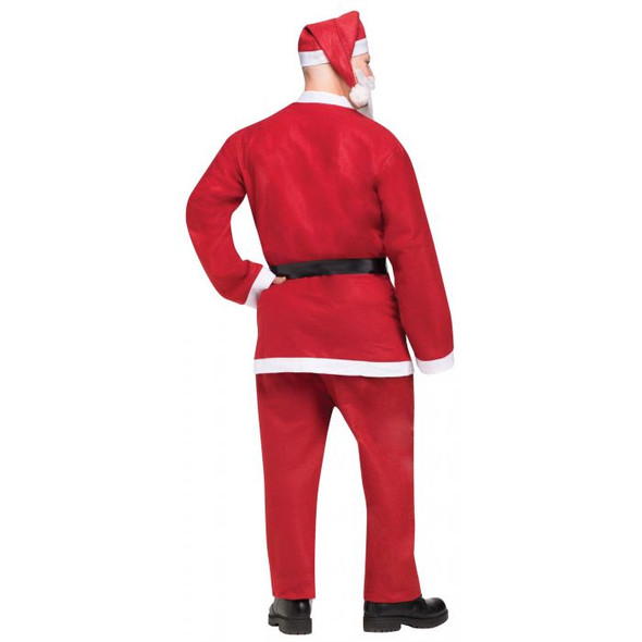 Pub Crawl Santa Claus Suit Red Faux Fur Adult Economy Christmas Costume One Size