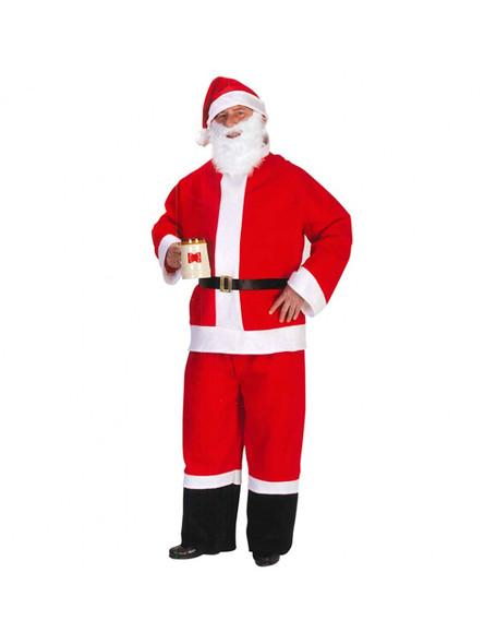 Santa Claus Suit Adult Costume Saloon Spree Beard Belt Hat Economy Suit LARGE