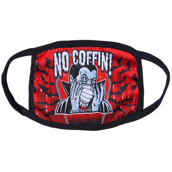 Dracula 'No Coffin' Goth Face Covering Mask Non Medical Cotton Washable Adult