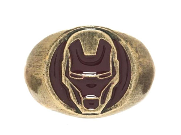 Marvel Iron Man Ring Costume Jewelry Unisex Gold Superhero Ring Size 9.5 LG