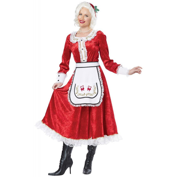Classic Mrs. Claus Adult Costume Fancy Dress Red Christmas Santa Women XXL 14-16