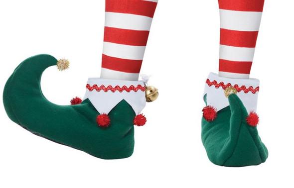 Elf Shoes Adult Men's & Women's Christmas Santa's Helper Slippers Adult SMALL
