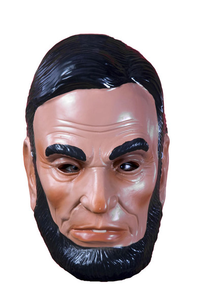 Abe Lincoln Mask PVC Plastic President Adult Costume Accessory Patriotic History