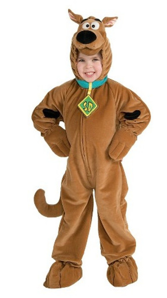 Deluxe Scooby-Doo Child Costume Brown Dog Cartoon Girls Boys Toddler-SM-MD-LG