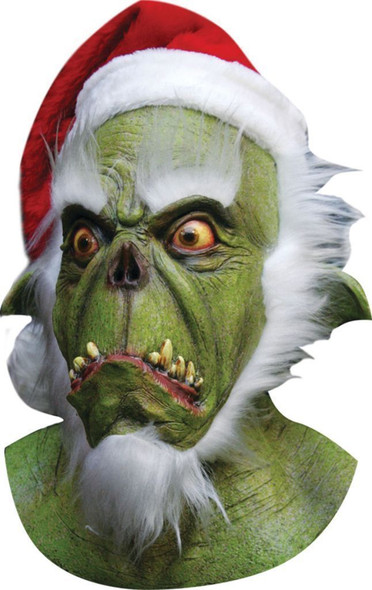 Horror Grinch Mask Evil Quality Santa Hat Christmas Costume Accessory Scary Prop