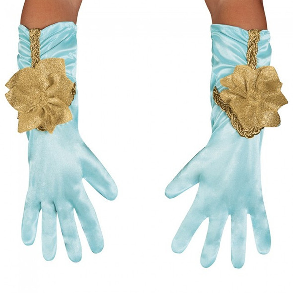 Disney Aladdin Jasmine Gloves Short Satiny Sparkle Girls Toddler Child Costume