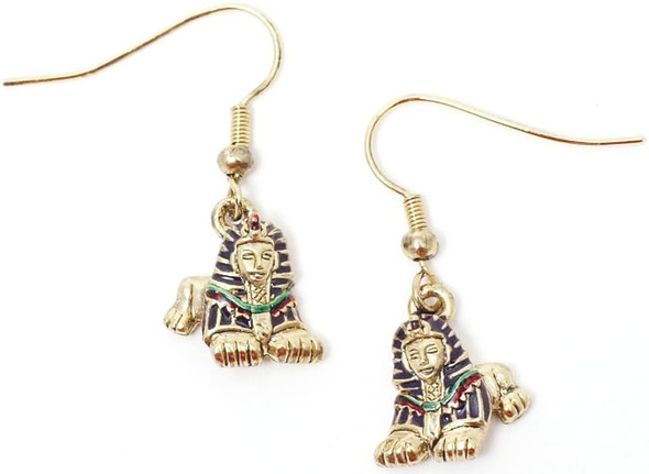 Pacific Giftware King Tut Sphinx Egyptian Mythological Dangling Earrings Jewelry