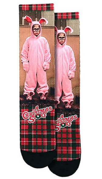 Spoontiques A Christmas Story Pink Bunny Ralph Crew Socks One Size Fits Most