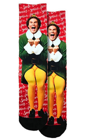 Spoontiques Fun Buddy The Elf Will Ferrell Crew Socks One Size Fits Most Adults