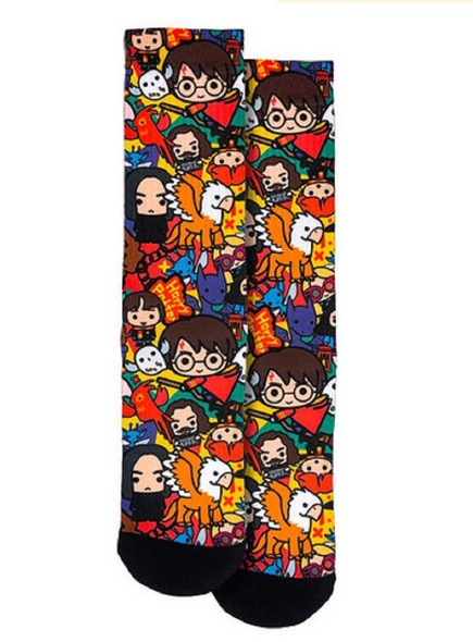 Spoontiques Fun Harry Potter Chibi AOP Crew Socks One Size Fits Most Adults